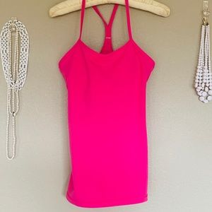 Hot Pink Lululemon Exercise Top Built-in Bra Sz M